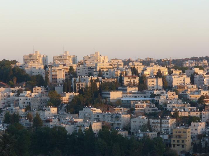 jerusalem view, apartment buildings, trees, jerusalem sunset, view of jerusalem, apartments, jerusalem